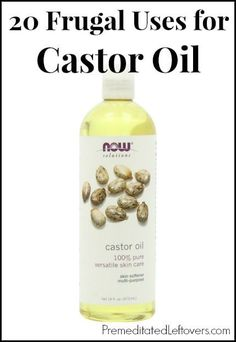 20 Frugal Uses for Castor Oil - 20 ways to use castor oil including beauty treatments and home remedies.