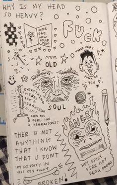 Arte Grunge, Grunge Art, Cool Art Drawings, Art Drawings Sketches, Art Journal Inspiration, Art Inspo, Art Diary, Arte Sketchbook, Indie Art