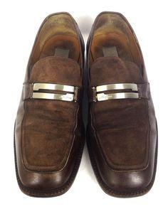 Mezlan Shoes Shoes Brown Leather Loafers Mens 10 #Mezlan #LoafersSlipOns