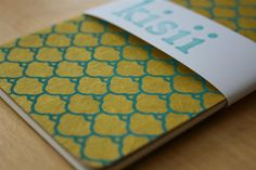 Gold Turquoise Chiyogami paper journal // Moleskine Cahier Journal // gold turquoise // blank // paper stationary // handmade