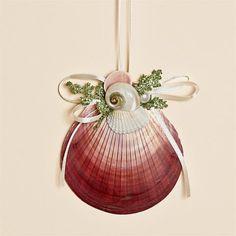 Natural Pink Moon Shell Ornament