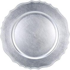 Der Dekoteller in Silberfarben ist die ideale Tischdekoration für elegante Anlässe. Setzen Sie darauf etwa Ihre Früchte, Häppchen oder Dekoration in Szene!