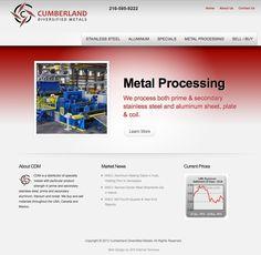 Cumberland Metals website design. - www.cumberlandmetals.com #webdesign