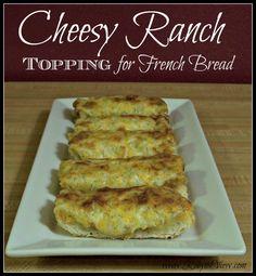 Cheesy Ranch zálivka pro francouzský chléb