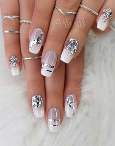 Makeup Nails Designs Makeup Nails Designs Manicure nude beige glitter, taupe nail women nail art natural Source with Unique Fashion Nails Picture Credit Cute Summer Nail Designs, Cute Summer Nails, Nail Summer, Acrylic Nail Designs, Nail Art Designs, Glitter Nail Designs, Silver Nail Designs, Square Nail Designs, Elegant Nail Designs