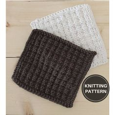 Excited to share this easy #knittingpattern from my #etsy shop: Knitted Dishcloth Pattern