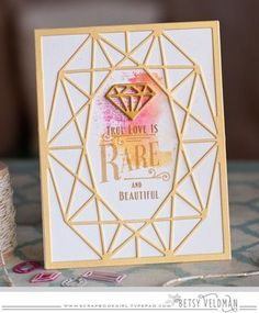 True Love Is Rare Card by Betsy Veldman for Papertrey Ink (December 2015)