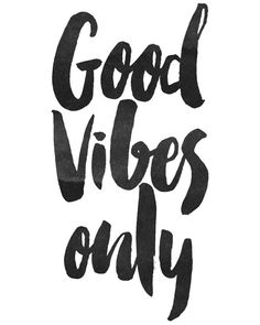 Art Digital Print affiche Good Vibes seulement par honeytreeprints