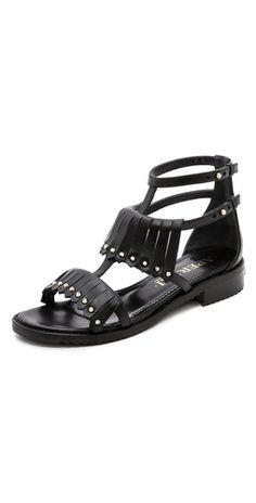 Aperlai Fringe Studded Sandals | SHOPBOP