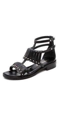 Aperlai Fringe Studded Sandals | SHOPBOP