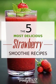 If you love using strawberries for your healthy smoothies, here the 5 most popular strawberry smoothie recipes you can try... #strawberrysmoothies #strawberrysmoothierecipes Healthy Smoothies, Smoothie Recipes, Strawberry Smoothie, Healthy Living Tips, Vitamin C, Strawberries, Popular, Canning, Fruit