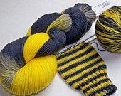 Hand dyed and handspun yarn stitch markers by SeeJayneKnitYarns