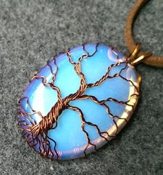 Tree of life pendant with a big stone - wire jewerly // Életfa medál házilag drótból egy nagy kővel - ékszerkészítés // Mindy - craft tutorial collection