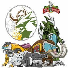 Go Power Rangers Pokemon Season 2 Crossover Stay Tuned Robot Futuristic Steampunk Dinosaurs Audio Robots Steam Punk