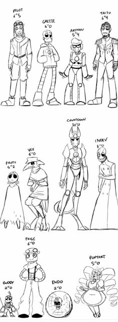 Character heights