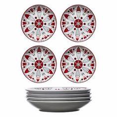 Christmas świąteczne ceramiczne talerzyki SAGAFORM
