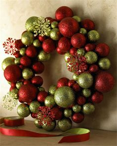 Decorating Wreath With Christmas Balls Blue Christmas  Christmas  Pinterest  Wreaths Blue Christmas