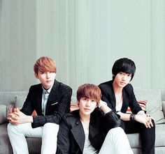 Ryeowook, Kyuhyun, and Yesung