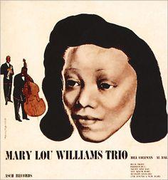Mary Lou Williams Trio,   label: Asch Records   (1944) Design: David Stone Martin.  His first album cover!