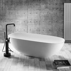 Standarmatur-Badewanne - JEE-O Soho Bath Mixer - Standarmatur-Badewanne - Armaturen - Bad & Sanitär - Relagio. Bad Inspiration, Bathroom Inspiration, Modern Bathroom Design, Bathroom Interior Design, Simply Bathrooms, Amsterdam, Luxury Bathtub, Stone Bath, Bath Mixer