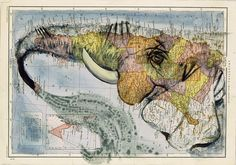 Faith is Torment | Art and Design Blog: Atlas: Paintings on Maps by Fernando Vicente