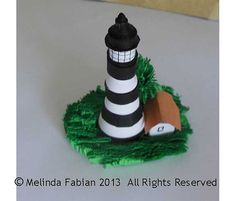 Lighthouse Paper Quilling Sculpture Papercraft by Melinda Fabian
