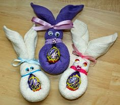 Craft and Other Activities for the Elderly: More Face Cloth Easter Bunny Ideas!