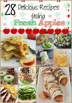 fruity dessert recipes, traditional mexican dessert recipes, fun thanksgiving dessert recipes - Fresh apples are plentiful in the fall.  If you're looking for recipes to use for your fresh apples, check out these 28 Delicious Recipes using Fresh Apples for some yummy ideas.