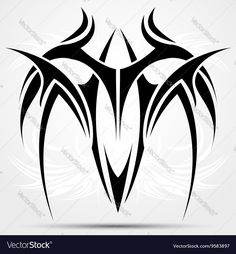 Find tribal tattoo stock images in HD and millions of other royalty-free stock photos, illustrations and vectors in the Shutterstock collection. Escorpion Tattoo, Tattoo Son, Shiva Tattoo, Chest Tattoo, Tribal Wings, Tribal Art, Angel Tattoo Designs, Tribal Tattoo Designs, Maori