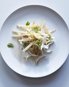 organic fuji apple & endive salad w/ maple lime dressing & bhutanese red pepper...will have to try this :