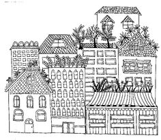 Darice Adult Coloring Book In Cityscapes