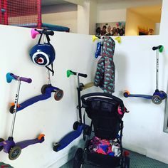 Scooterpegs looking brilliant and doing a great job of storing lots of scooters Pegboard For Kids, Kids Scooter, Scooter Scooter, Scooter Storage, Bike Store, Under Stairs, Garage Storage, Retail Design, Scooters