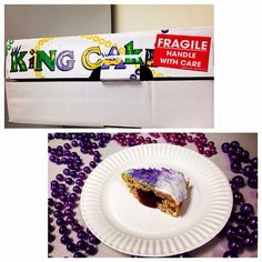 #FatTuesday at the #NoVAMag office #MardiGras #KingCake #PerfectSlice #HandledWithCare