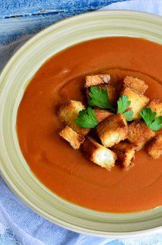Supa crema de legume - CAIETUL CU RETETE Thai Red Curry, Ethnic Recipes, Soups, Food, Bebe, Soup, Meals, Soup Appetizers, Yemek