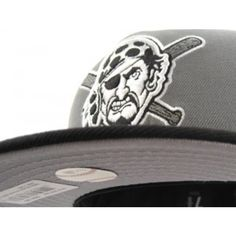Pittsburgh Pirates New Era 59Fifty Fitted Hats (STORM GRAY/BLACK)
