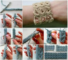Broomstick Lace Crochet Bracelet Free Pattern   The WHOot