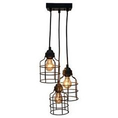 Metal Cage S/3 Pendant - The Industrial Shop™ : Target