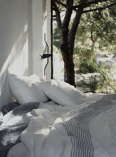 Stunning bedroom. [ SpecialtyDoors.com ] #bedroom #hardware #slidingdoor