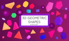 3D vector geomertic shapes by Zebra-Finch on @creativemarket