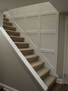 cut away bottom of stairwell wall to create more open entry from garage.