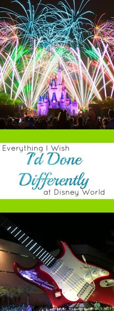 Check out this great article about hindsight at Disney   Make your next trip your best trip   Everything I wish I'd done differently at Disney