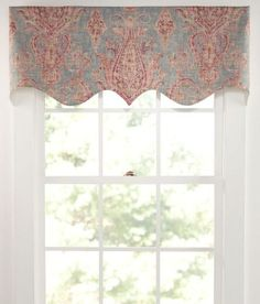 Paisley Jacobean Lined Scalloped Valance - Country Curtains ...