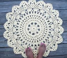 doily carpet crochet pattern - Google-haku
