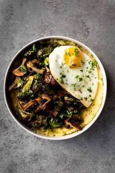 polenta bowls with roasted brussels sprouts & mushrooms #Food #Foods #Foodies #foodie #foodporn #foodstagram #foodlover #foodspotting #foodshare #foodstyling #gastronomy #instafood #foodphotography #chef #cheflife #finedining #cook #homecook #foodpics #pastrychef #madeinusa #hungry #tasty #fish #seafood #roe #fresh #japanesecuisine #sushi