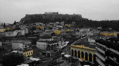 Urban yellow @Athens #urban_yellow #Monastiraki #Athens #Athens_view #yellow_facades #Acropolis #urbanism #city_centre #greyscale #blackandwhitephoto #urbanism #travel #illustration