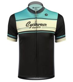 The core color of this retro jersey is Celeste Green - a color made famous by Bianchi Bicycles. The garment has three colors, Celeste Green, Black, and a creamy white. The Celeste green is reminiscent of the Bianchi bicycles of Cycling Wear, Bike Wear, Cycling Jerseys, Cycling Outfits, Cycling Clothes, Women's Cycling, Cycling Equipment, Bike Run, Bike Rides