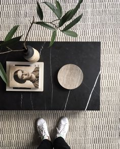 MENU | Plinth table and Hover bowl by Norm Architects in TRNK co-founder and CEO Tariq Dixon studio apartment | @juliaalena