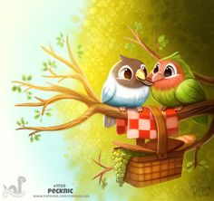 Daily Painting Fish Kebabs by Cryptid-Creations on DeviantArt Cute Animal Drawings, Cute Drawings, Saint Yves, Animal Puns, Cute Creatures, Cute Illustration, Cute Cartoon, Cute Art, Cute Pictures