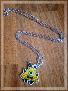Gravity Falls Chibi Bill Cipher Necklace