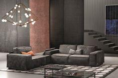 Sacai Modern Leather Sectional Sofa by Gamma Arredamenti